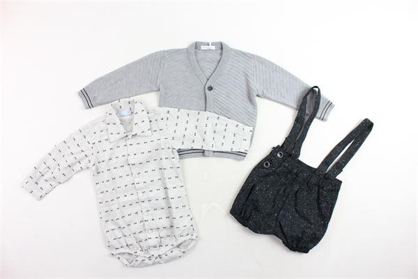 completi 3 pezzi cardigan più camicia a body più pagliacetto MANUEL & FRANK | Completi | MF4098IGRIGIO