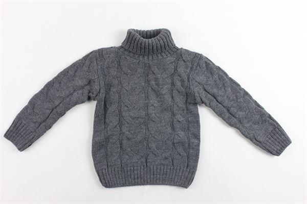 maglione collo alto in lana tinta unita MANUEL & FRANK | Maglie | MF4099NGRIGIO