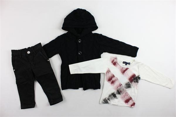 completo 3 pezzi cardigan in lana,shirt più pantalone MANUEL & FRANK | Completi | MF4100NNERO