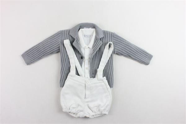completi 3 pezzi cardigan più camicia a body più pagliacetto MANUEL & FRANK | Completi | MF4111IGRIGIO