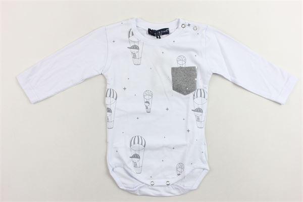 shirt body manica lunga con stampa e taschino MANUEL & FRANK | Shirts | MF7015IBIANCO