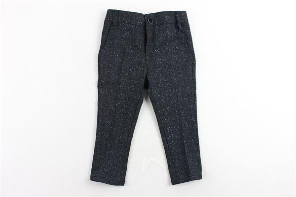 pantalone tasca america microfantasia MANUEL & FRANK | Pantaloni | PANTALONEMANUEL&FRANK1BLU