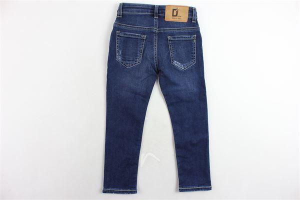 jeans 5 tasche tinta unita girovita regolabile MANUEL RITZ | Jeans | MR0449BLU