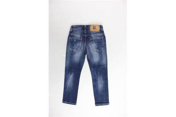 jeans 5 tasche tinta unita girovita regolabile con strappi MANUEL RITZ | Jeans | MR0452BLU