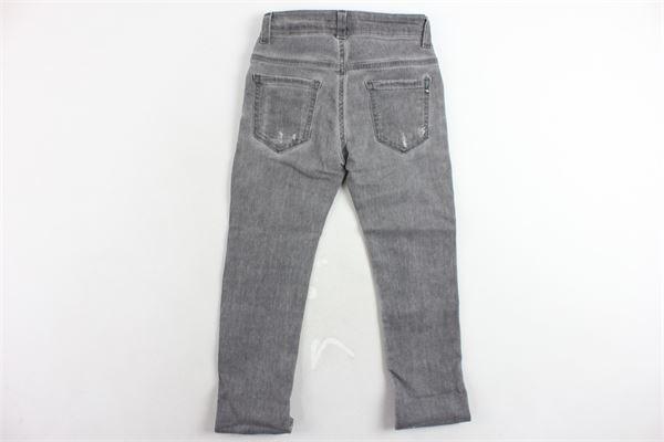 jeans 5 tasche tinta unita con strappi MANUEL RITZ | Jeans | MR0456GRIGIO