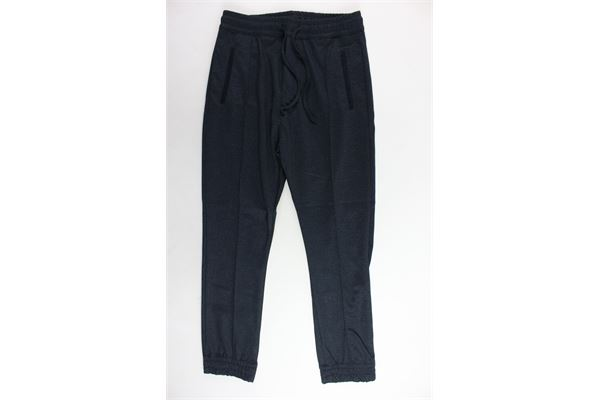 pantalone elasticoin vita tinta unita MANUEL RITZ | Pantaloni | MR0465BLU