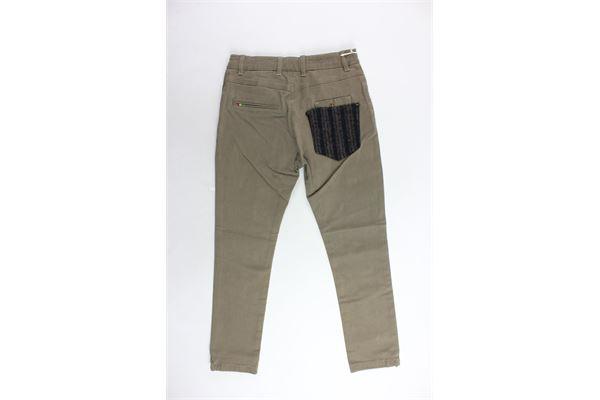 pantalone 5 tasche tinta unita girovita regolabile MANUEL RITZ | Pantaloni | MR046TABACCO