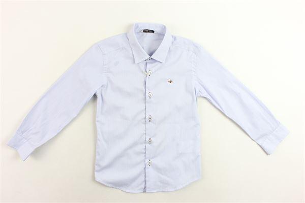 camicia manica lunga rigata MANUEL RITZ | Camicie | MR0480CELESTE