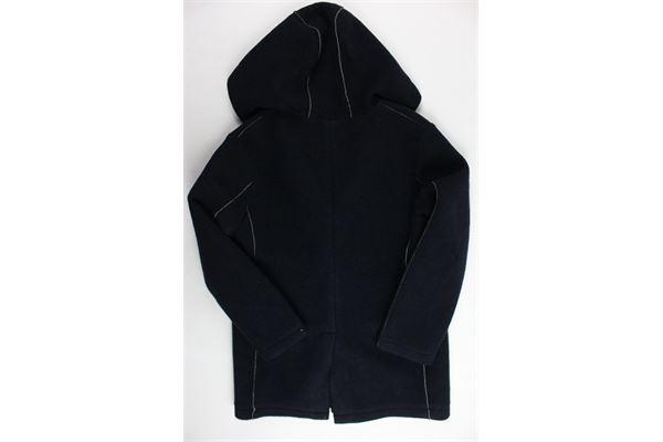 cappotto lungo tinta unita con cappuccio MANUEL RITZ | Giubbini | MR0514BLU