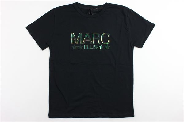 t-shirt mezza manica tinta unita con stampa MARC ELLIS | T-shirts | JMETS731NERO