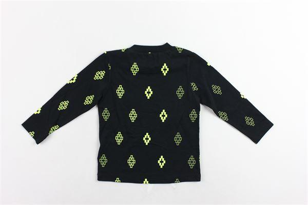 shirt manica lunga tinta unita con stampa MARCELO BURLON | Shirts | MB1406NERO
