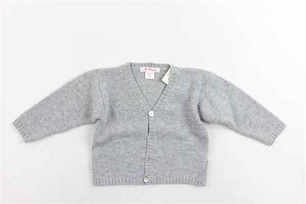 cardigan in lana tinta unita MARIELLA FERRARI | Maglie | MGK244GRIGIO