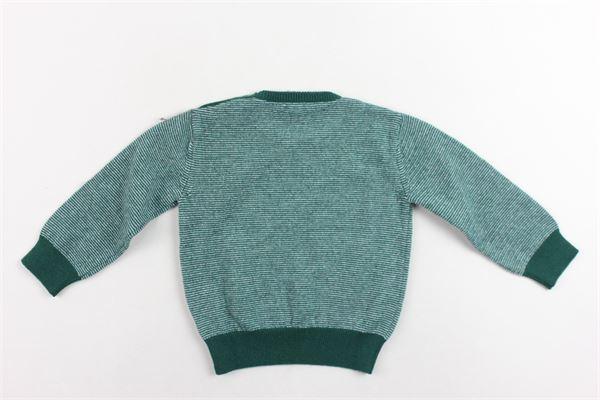 maglione girocollo rigato MARIELLA FERRARI | Maglie | MGQ15.1VERDE