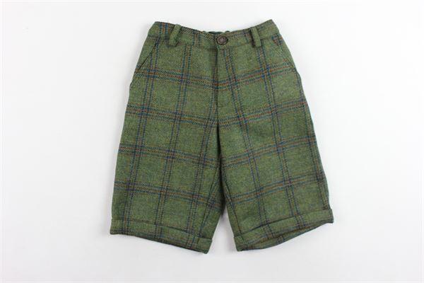 bermuda tasca america in lana girovita regolabile fantasia a quadri MARIELLA FERRARI | Bermuda | PTD4VERDE