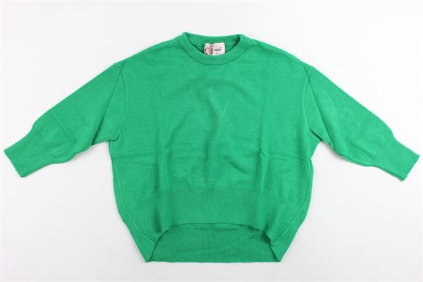 maglione girocollo tinta unita oversize MARIUCCIA | Maglie | MMBFW19MA2000VERDE