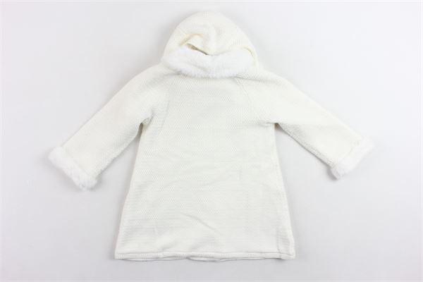 cappotto in maglia con collo e cappuccio in pelliccia sintetica removibile MAYORAL | Giubbini | 2407BIANCO