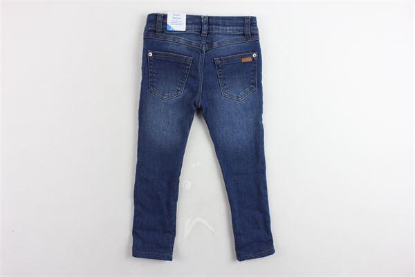 jeans 5 tasche tinta unita con stampa girovita regolabile MAYORAL | Jeans | 4505BLU
