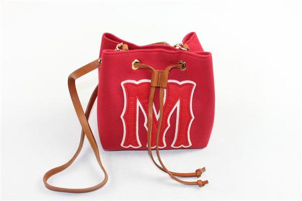 borsa modello secchiello tinta unita con tracolla MIMISOL | Borse | MABO001TS0056ROSSO