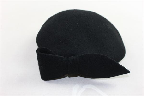 modello coppola tinta unita con fiocco MIMISOL | Cappelli | MACP003XX0000NERO