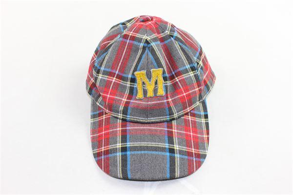 berretto modello college fantasia a quadri MIMISOL | Cappelli | MACP008TS0027GRIGIO