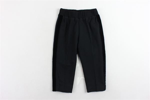 pantalone tinta unita MIMISOL | Pantaloni | MFPA018TS0001NERO