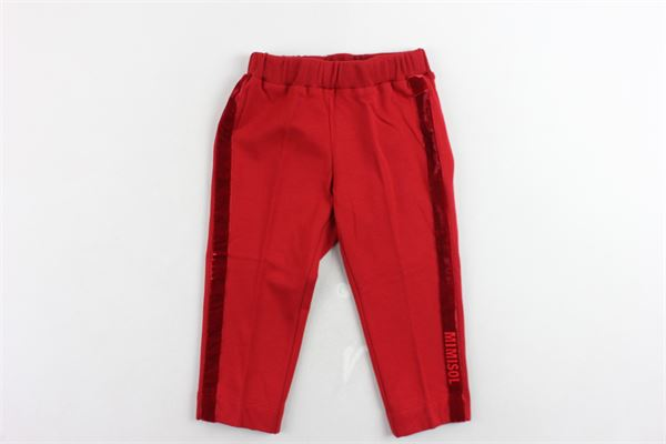 pantalone tinta unita MIMISOL | Pantaloni | MFPA018TS0001ROSSO