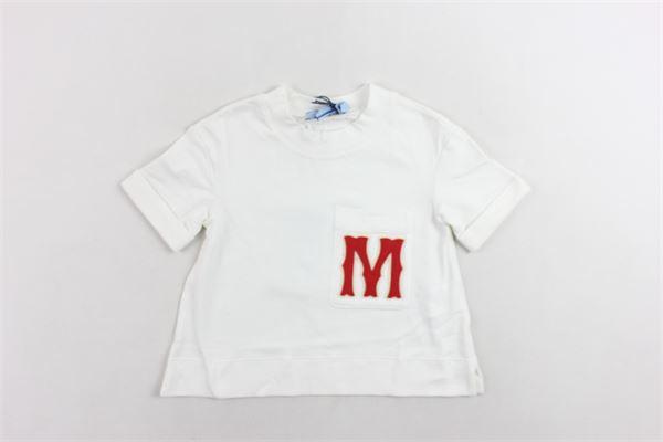 t-shirt mezza manica tinta unita con stampa MIMISOL | T-shirts | MFTS006TS0058BIANCO
