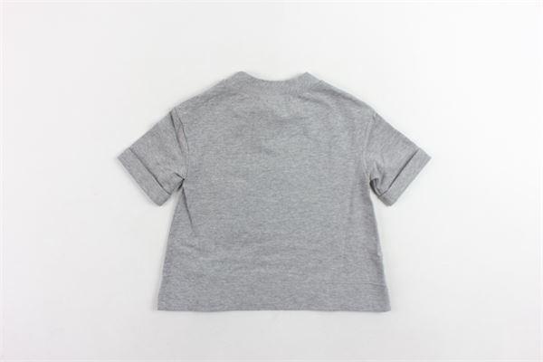 t-shirt tinta unita mezza manica con stampa MIMISOL | T-shirts | MFTS006TS0058RGIAGRIGIO