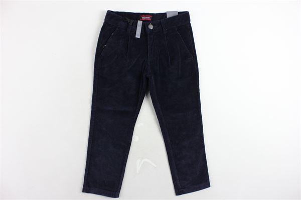 pantalone in velluto tasca america girovita regolabile MINI BANDA | Pantaloni | 0K159/00BLU