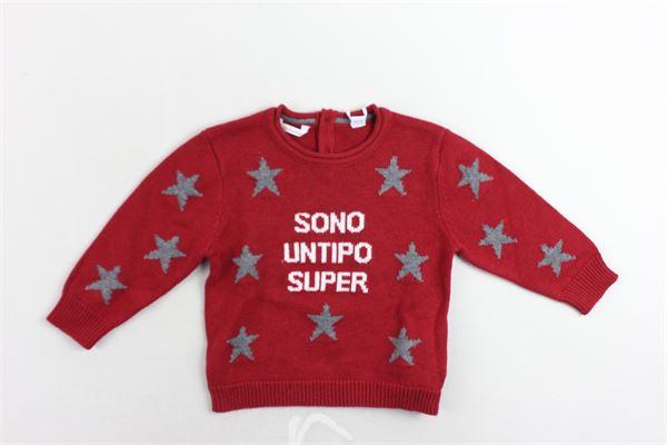 maglione tinta unita con stampa MINI BANDA | Maglie | 3K610/00ROSSO