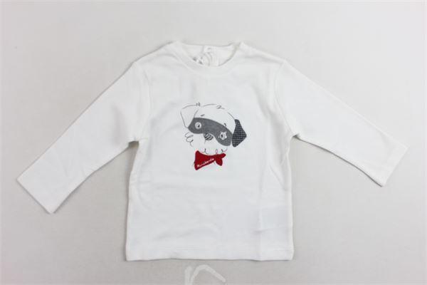 shirt manica lunga tinta unita con stampa MINI BANDA | Shirts | 3K630/00BIANCO