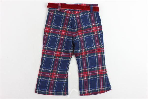pantalone fantasia scozzese MISS BLUMARINE | Pantaloni | MBL0141BLU