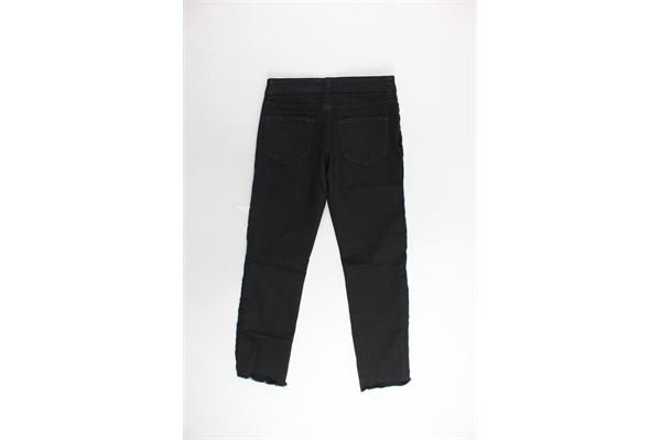 jeans 5 tasche tinta unita con rouches MISS BLUMARINE | Jeans | MBL0669NERO