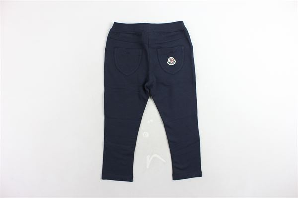 pantalone in felpa tinta unita MONCLER | Pantaloni | D2951875810580996BLU