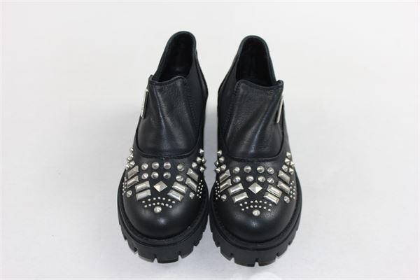 scarpe tinta unita con applicazione MONTELPARE | Scarpe | 46712NERO