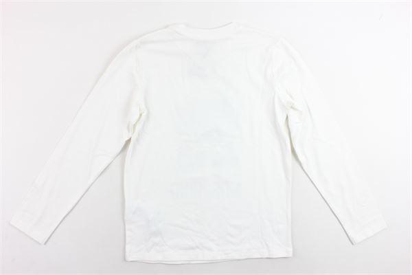shirt manica lunga cotone caldo tinta unita con stampa MOSCHINO | Shirts | HMM02HBIANCO
