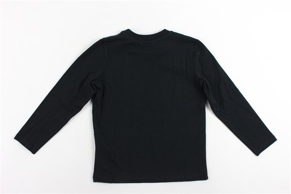shirt manica lunga cotone caldo tinta unita con stampa MOSCHINO | Shirts | HMM02HNERO