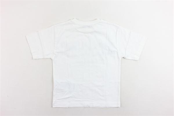t-shirt mezza manica tinta unita con stampa MOSCHINO | T-shirts | HPM029BIANCO