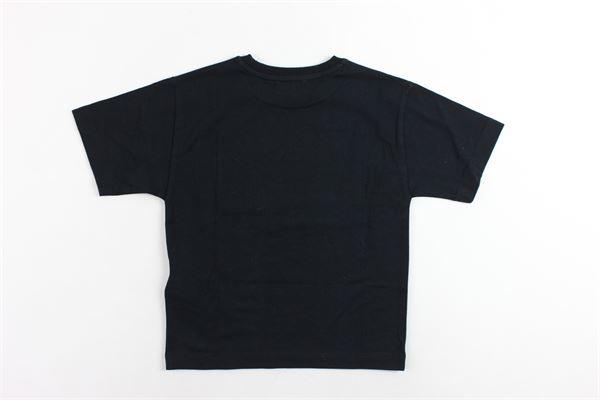 t-shirt mezza manica tinta unita con stampa MOSCHINO | T-shirts | HPM029NERO