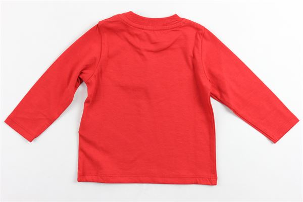 shirt manica lunga cotone caldo tinta unita con stampa MOSCHINO | Shirts | M5M01VROSSO