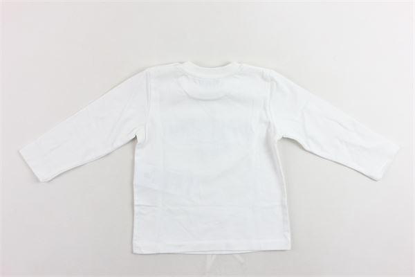 shirt manica lunga cotone caldo tinta unita con stampa MOSCHINO | Shirts | MNM01VBIANCO