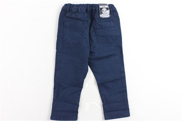 pantalone 5 tasche tinta unita stampa moschino elastico in vita MOSCHINO | Pantaloni | MNP01UBLU