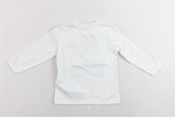 shirt manica lunga cotone caldo tinta unita con stampa MOSCHINO | Shirts | MTM01VBIANCO