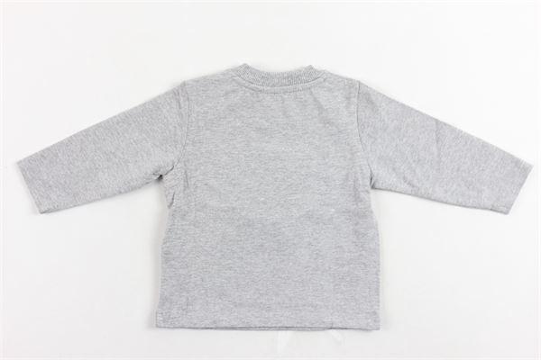 shirt in cotone manica lunga tinta unita con taschino e stampa MOSCHINO | Shirts | MUM01UGRIGIO