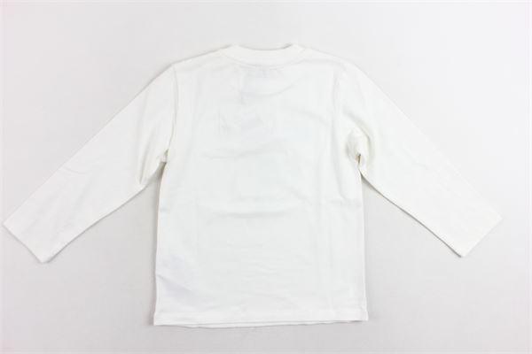 shirt cotone caldo tinta unita con stampa e bottoni alla spalla MOSCHINO | Shirts | MUM01VBIANCO