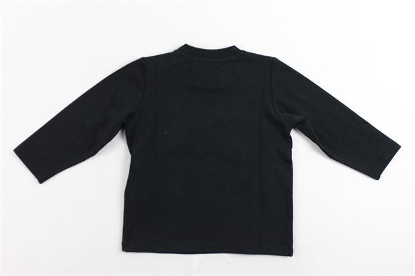 shirt manica lunga tinta unita con stampa MOSCHINO | Shirts | MUM023NERO