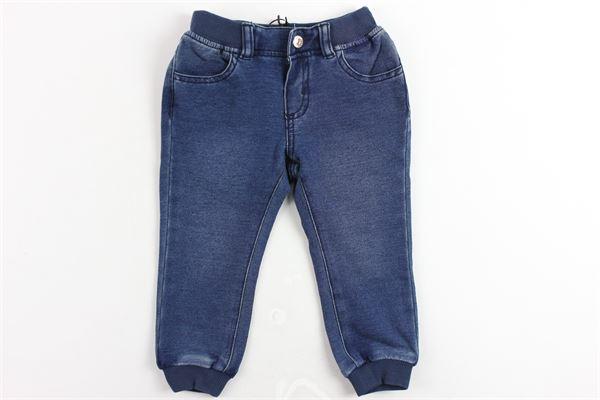 jeans 5 tasche tinta unita elastico in vita con stampa MOSCHINO | Jeans | MUP02JBLU