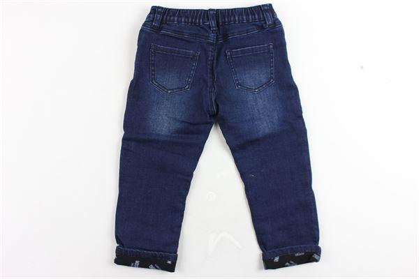 jeans tinta unita elastico in vita con stampa moschino MOSCHINO | Jeans | MUP033BLU