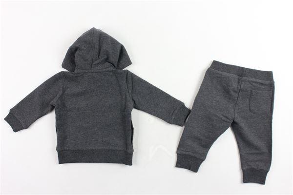 completo tuta felpa più pantalone,felpati tinta unita con stampa MOSCHINO | Completi | MYK00RGRIGIO