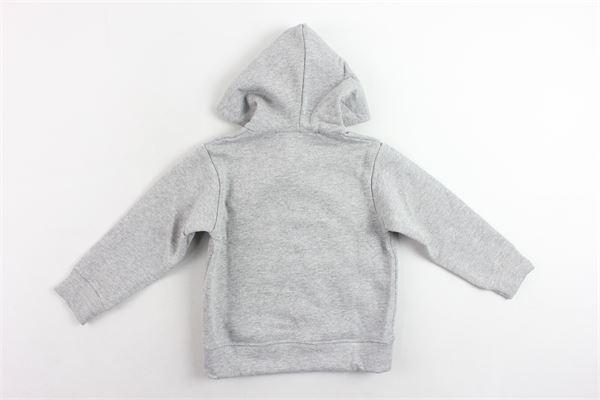felpa zip e cappuccio tinta unita MOUSSE KIDS | Felpe | MKZC065/88GRIGIO